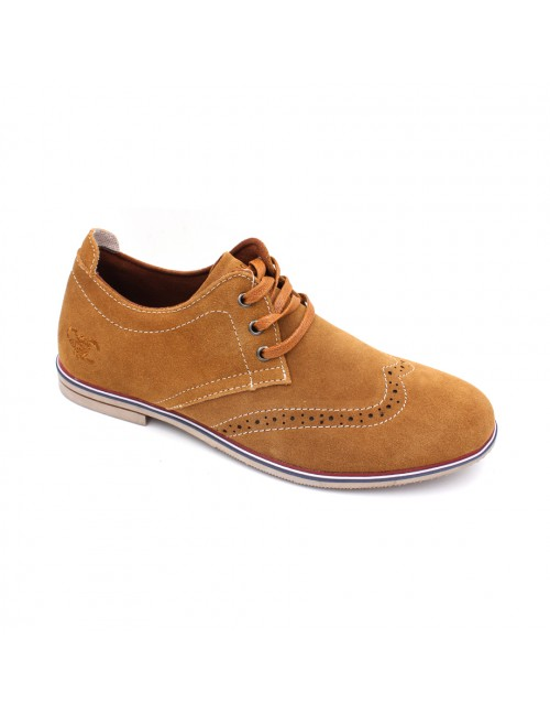 SCORPION Suede Leather Casual Lace Up SC3223 Brown