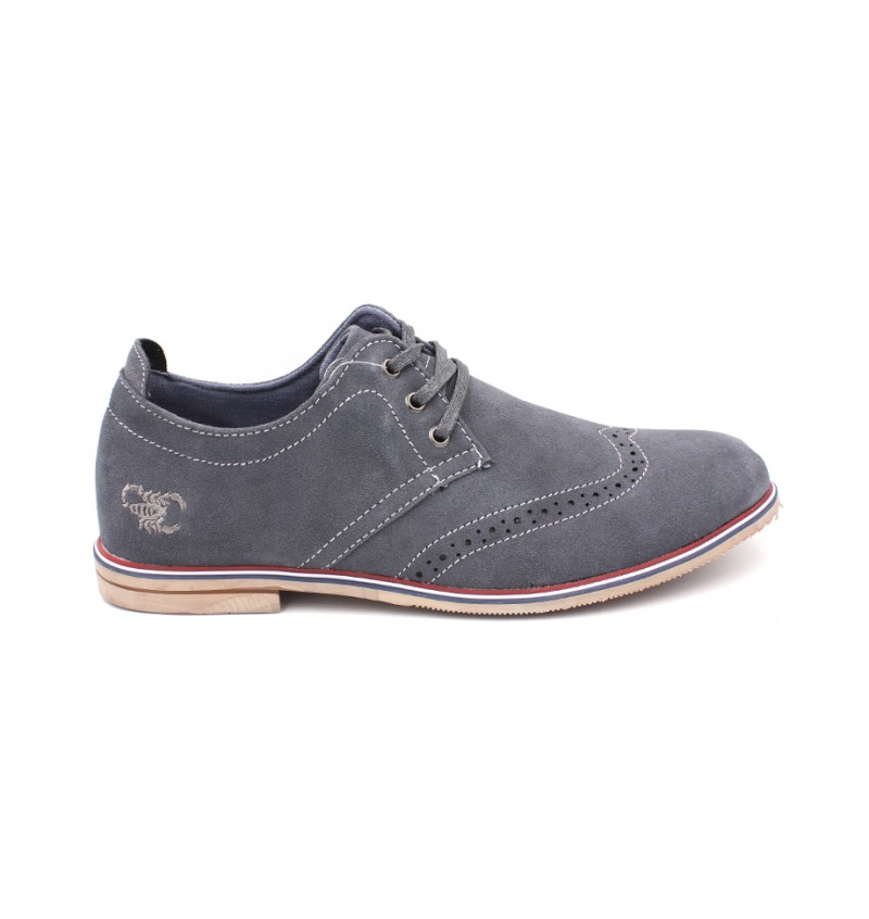 SCORPION Men Suede Leather Lace Up SC3223 Grey