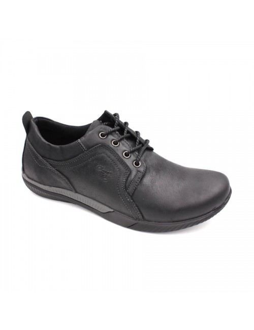 SCORPION Leather Casual Lace Up SC232 Black