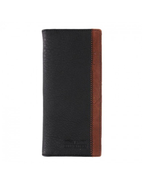 BULL RYDERS Leather Bifold Long Wallet BWDB-80071