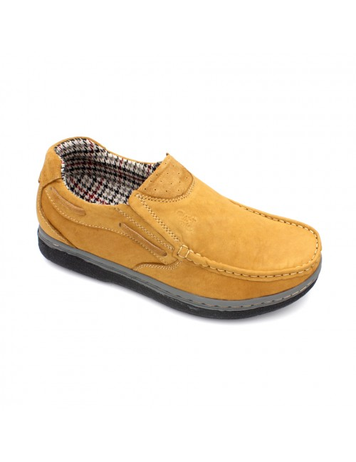 SCORPION Leather Casual Shoes SC1516-7 Yellow