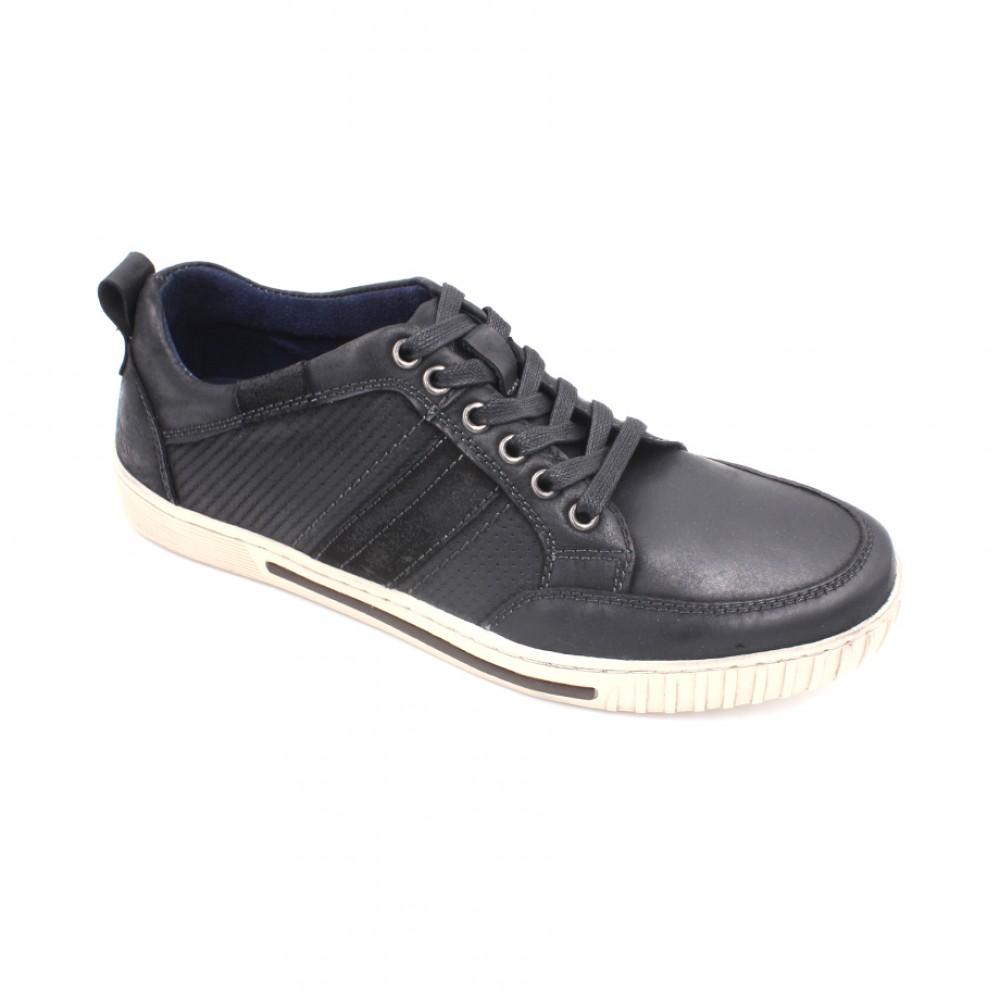 SCORPION Leather Lace Up Sneaker SC8206-1 Black