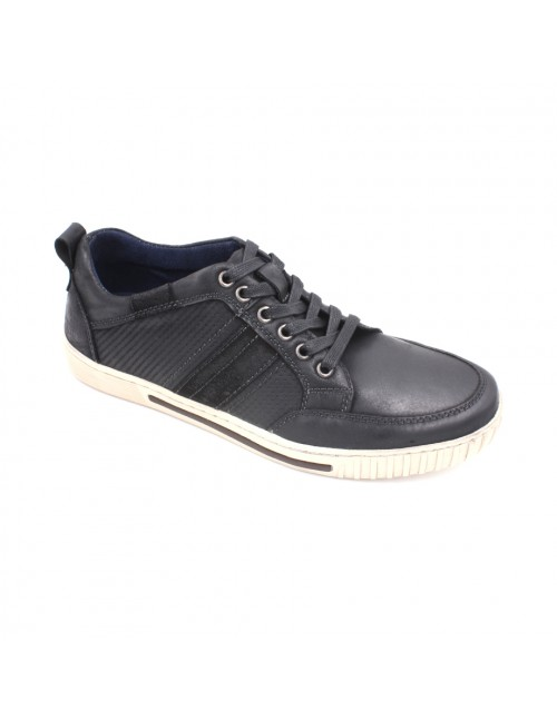 SCORPION Leather Lace Up Sneaker SC8206-1 Black