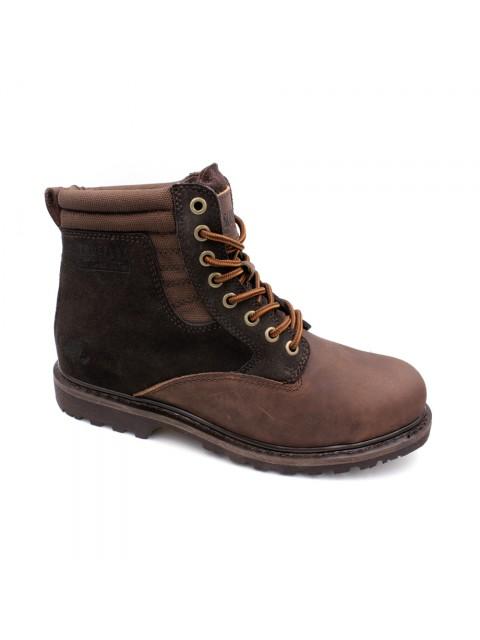 SCORPION Genuine Leather Safety Boots B2608 Dark Brown