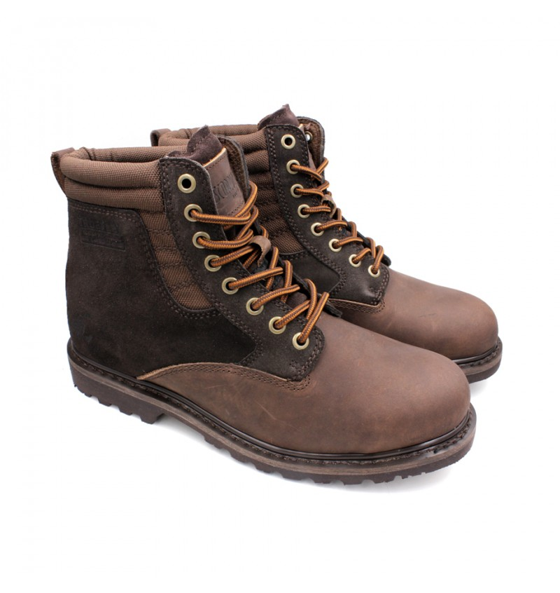 SCORPION Genuine Leather Safety Boots B2608 Dark Brown