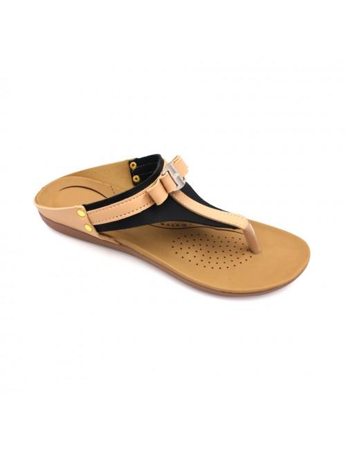 MIDZONE Comfortable Flat Sandals MZSWA5172 Beige