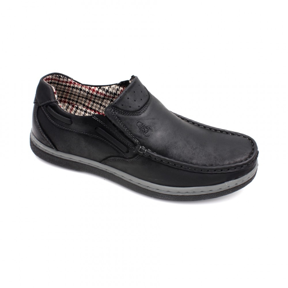 SCORPION Leather Casual Shoes SC1516-7 Black