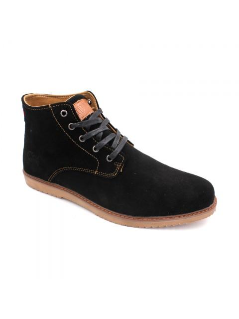 SCORPION Suede Leather High Cut SC17619 Black