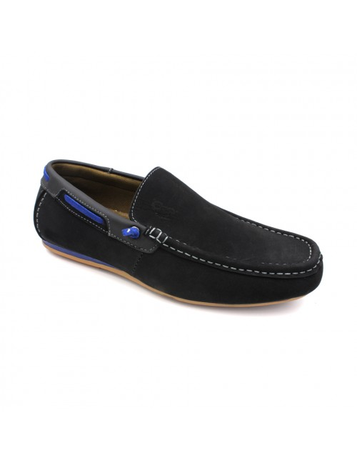 SCORPION Leather Slip On SC311 Black