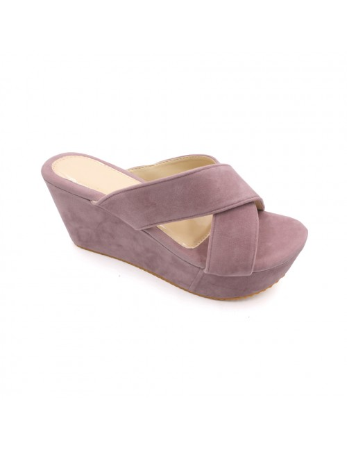 MIDZONE Lady Fashion Wedges MZ338 Purple