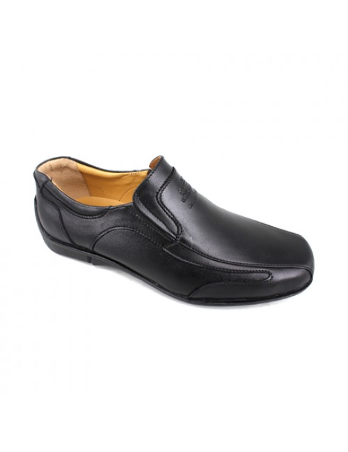 EXPRESS POLO Men Handmade Genuine Cow Leather Loafer EH223 Black