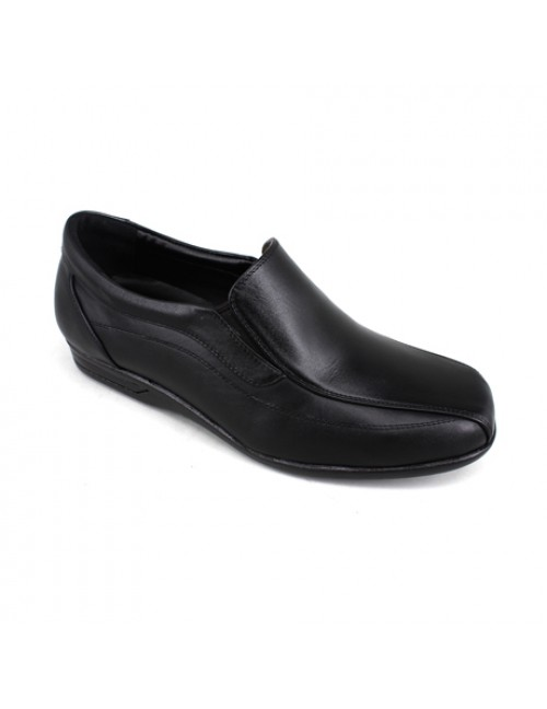 EAGLE HUNTER Men Handmade Leather Slip On EH90339 Black