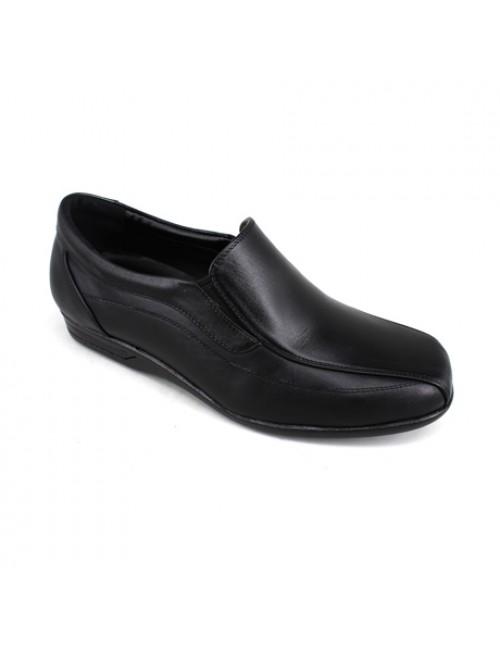 EAGLE HUNTER Men Handmade Leather Slip On EH90339 Black
