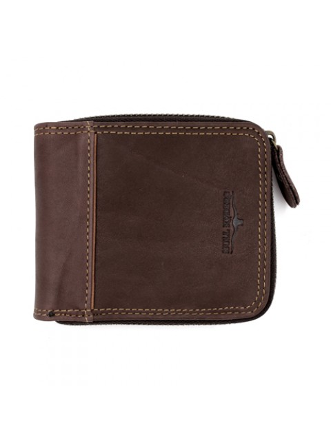 BULL RYDERS Genuine Leather Zipper Wallet BWFW-80399