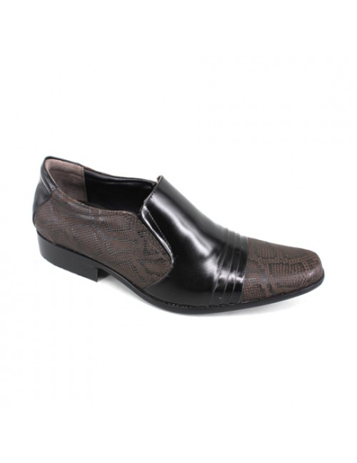 EAGLE HUNTER Men Handmade Leather Fashion Dress Shoes EH90005 Black