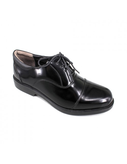 EAGLE HUNTER Handmade Patent Leather Formal Lace Up EH7533B Black