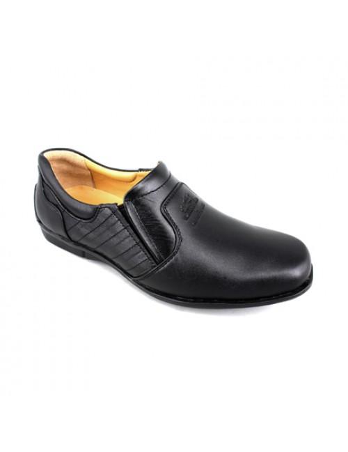 EXPRESS POLO Men Handmade Leather Slip On EH229 Black