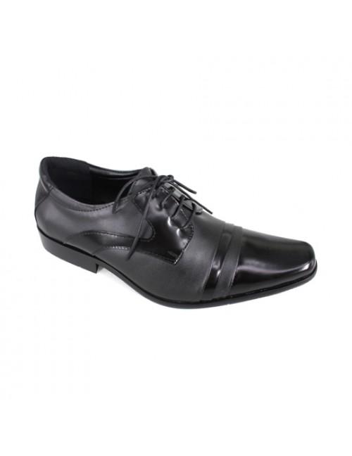 EAGLE HUNTER Men Handmade Genuine Leather Formal Lace Up EH90198 Black