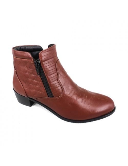 EAGLE HUNTER Women Handmade Genuine Leather Boots EHL9128 Brown