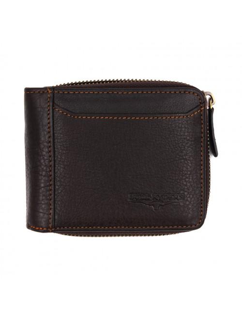 BULL RYDERS Genuine Cow Leather Zipper Wallet BWGD-80439