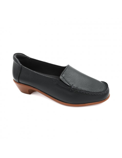 EXPRESS POLO Women Handmade Genuine Cow Leather  Loafer EHL100 Black