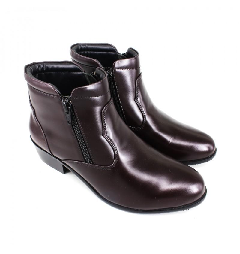 EAGLE HUNTER Women Handmade Genuine Cow Leather Boots EHL9576 Maroon