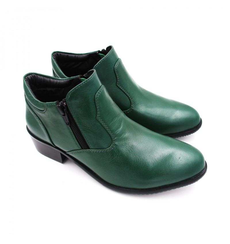 EAGLE HUNTER Women Handmade Genuine Cow Leather Boots EHL9579 Green