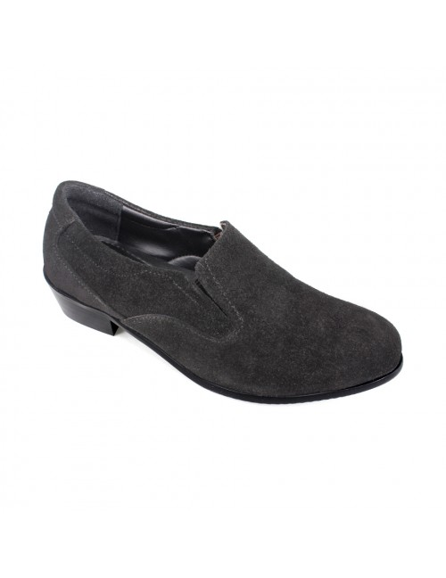 EAGLE HUNTER Women Handmade Genuine Cow Suede Leather Slip On EHL90229 Black
