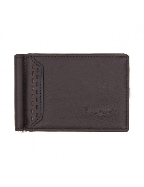 BULL RYDERS Genuine Cow Leather Clip Wallet BWGF-80448