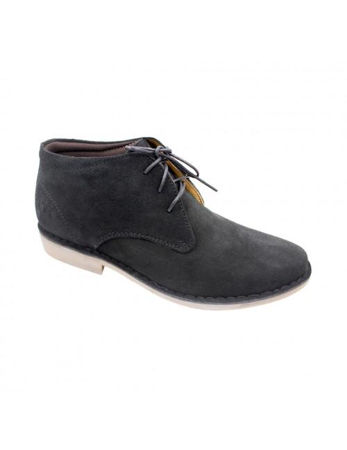 EAGLE HUNTER Men Handmade Genuine Cow Suede Leather Sneaker EH90301 Black