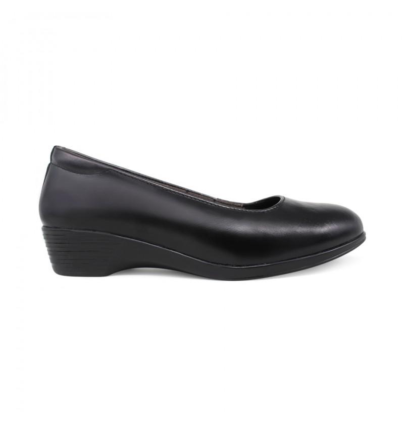 EAGLE HUNTER Women Handmade Genuine Cow Leather Lower Heels EHL90348B Black