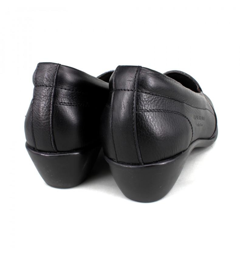 EAGLE HUNTER Women Handmade Genuine Cow Leather Lower Heels EHL474 Black