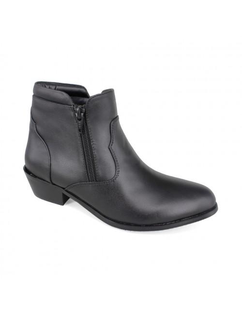 EAGLE HUNTER Women Handmade Genuine Cow Leather Boots EHL456 Black