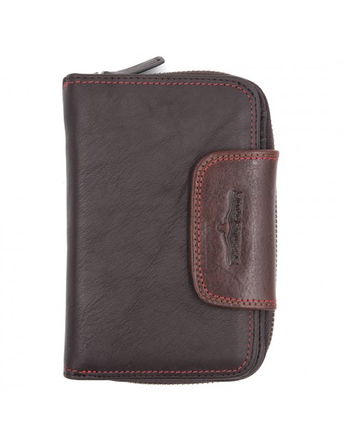 BULL RYDERS Genuine Cow Leather Zipper Wallet BWGE-80447
