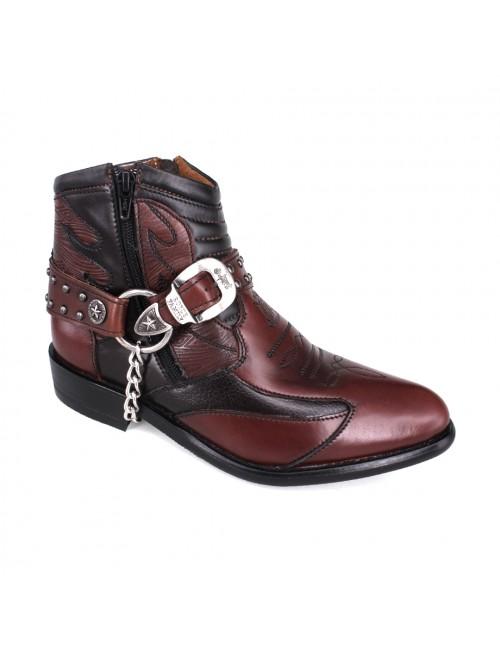 EAGLE HUNTER Signature Men Handmade Leather Boots EHE3009 Maroon