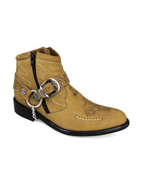 EAGLE HUNTER Signature Men Handmade Leather Boots EHE3014 Brown