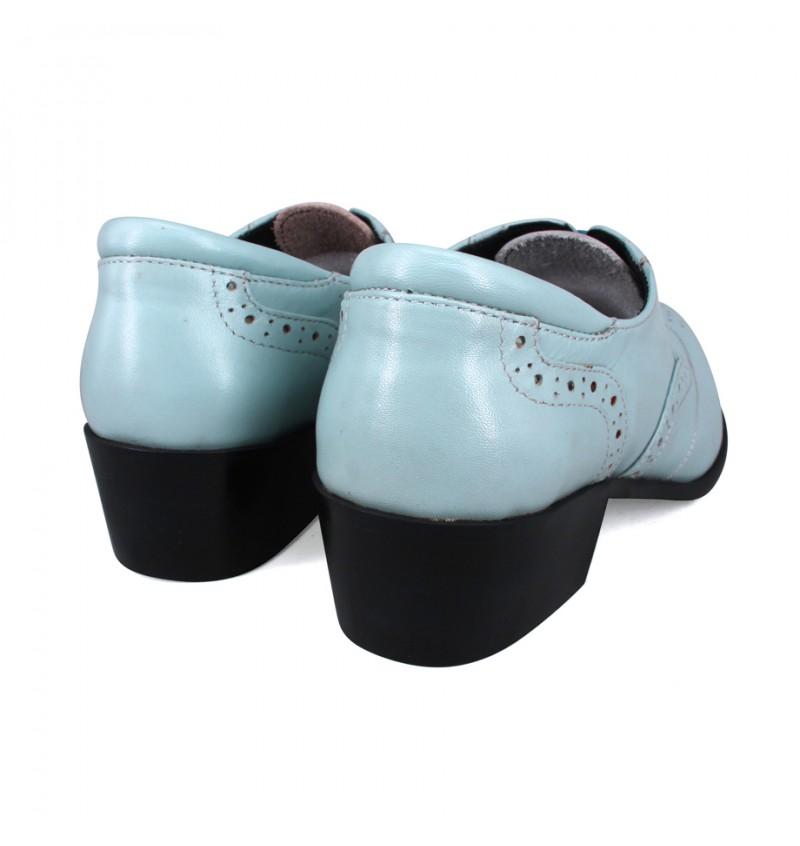 EAGLE HUNTER Women Handmade Genuine Cow Leather Loafer EHL90130 Blue