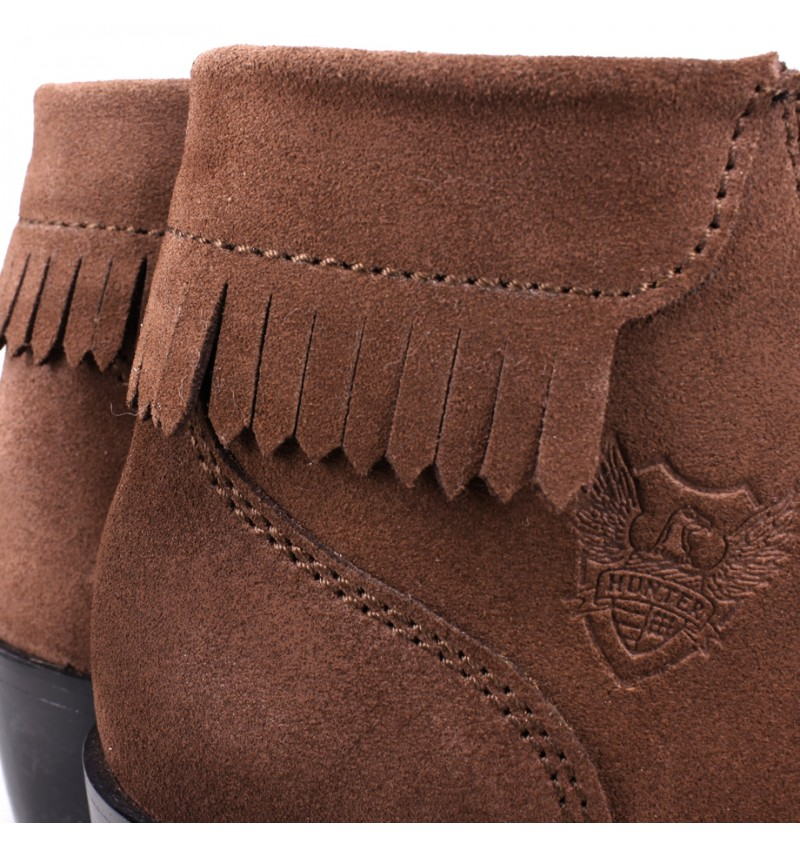 EAGLE HUNTER Women Handmade Genuine Cow Suede Leather Boots EHL90031 Brown