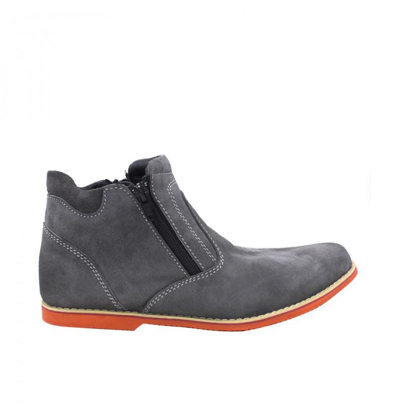 EAGLE HUNTER Men Genuine Suede Leather Sneaker EH90146 Grey