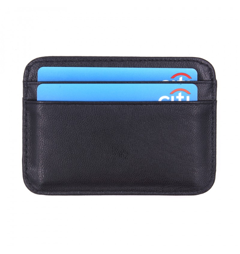 MIDZONE Genuine Leather Card Holder MZWW190501 Black