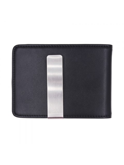 MIDZONE Genuine Leather Clipper Wallet MZWW190503 Black
