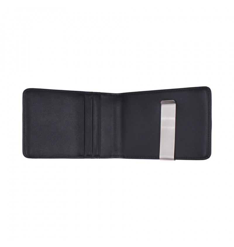 MIDZONE Genuine Leather Clipper Wallet MZWW190503 Black