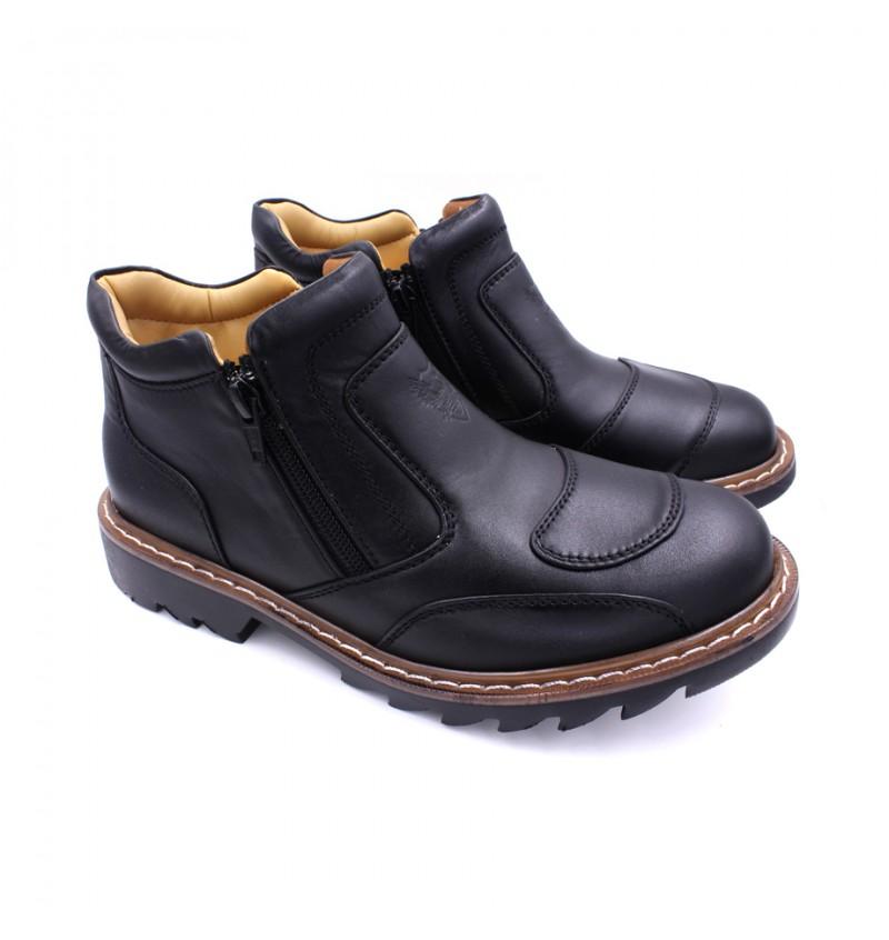 EAGLE HUNTER Men Genuine Cow Leather Low Boot EHB90062 Black