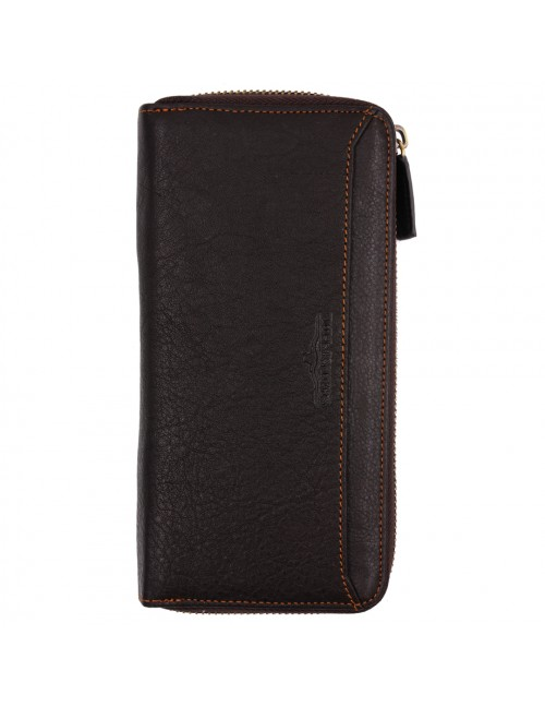 BULL RYDERS Genuine Leather Long Zipper Wallet BWGD-80441