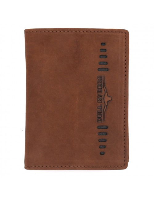 BULL RYDERS Genuine Cow Leather Small Wallet BWFZ-80417 Brown