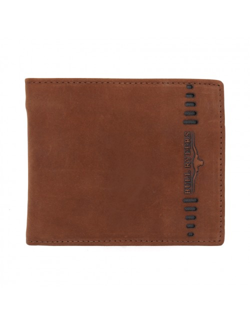 BULL RYDERS Genuine Cow Leather Wallet BWFZ-80418