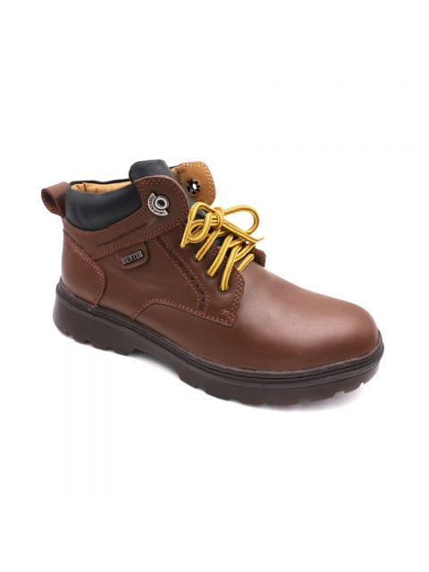 EAGLE HUNTER Men Genuine Cow Leather Boots EH90137 Whisky Black