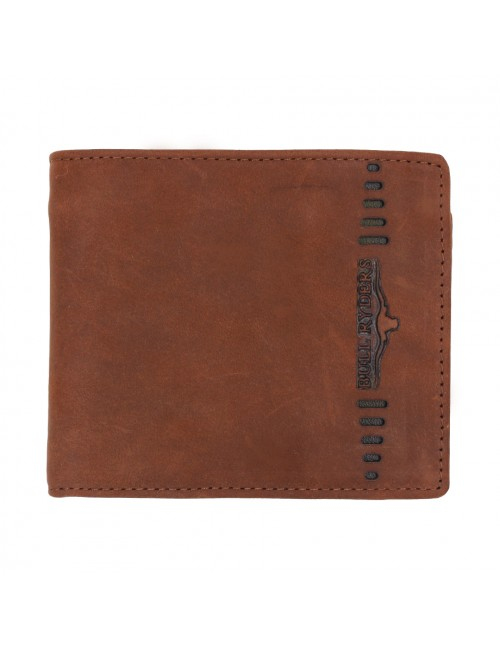 BULL RYDERS Genuine Cow Leather Wallet BWFZ-80419