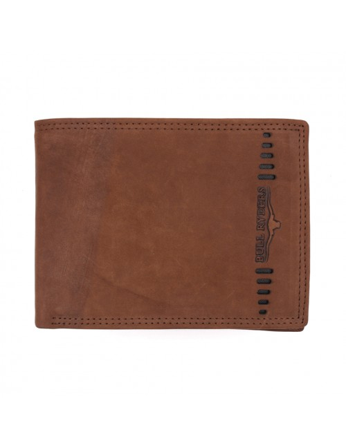 BULL RYDERS Genuine Cow Leather Large Wallet BWFZ-80420