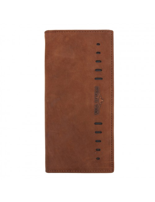 BULL RYDERS Genuine Cow Leather Long Wallet BWFZ-80421